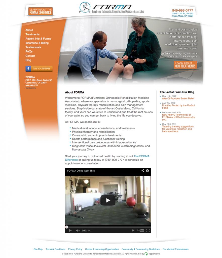 FormaDocs.com: Physical Therapist Website Design
